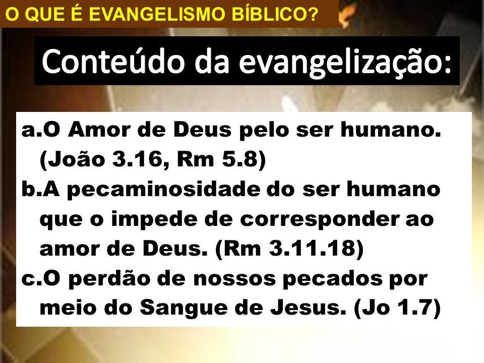 Conteúdo da evangelização: