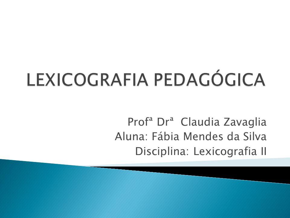 LEXICOGRAFIA PEDAGÓGICA
