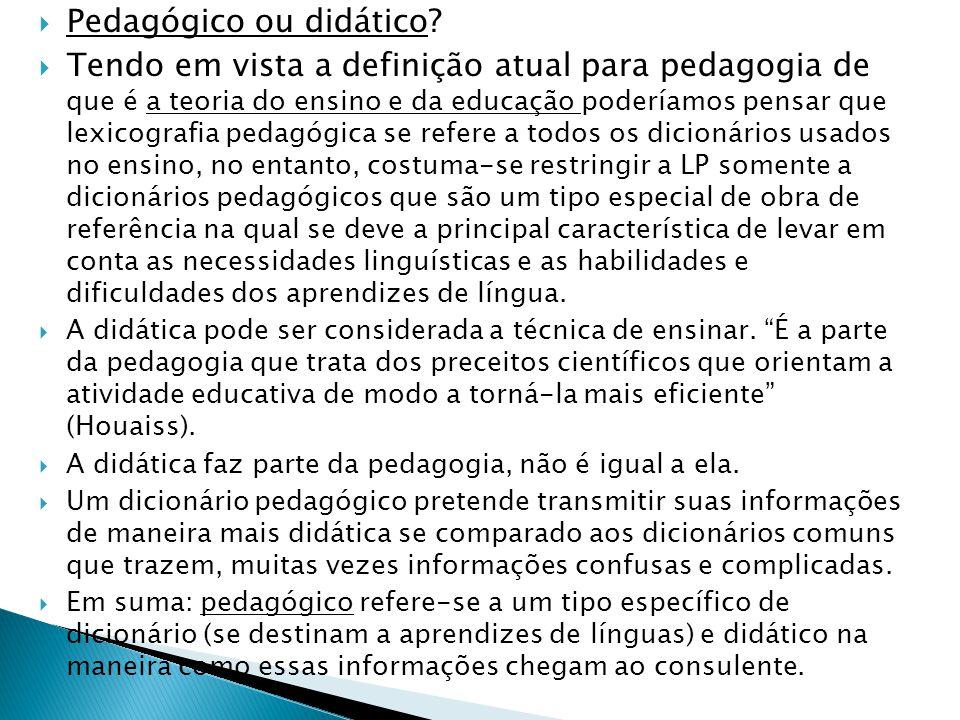 Pedagógico ou didático