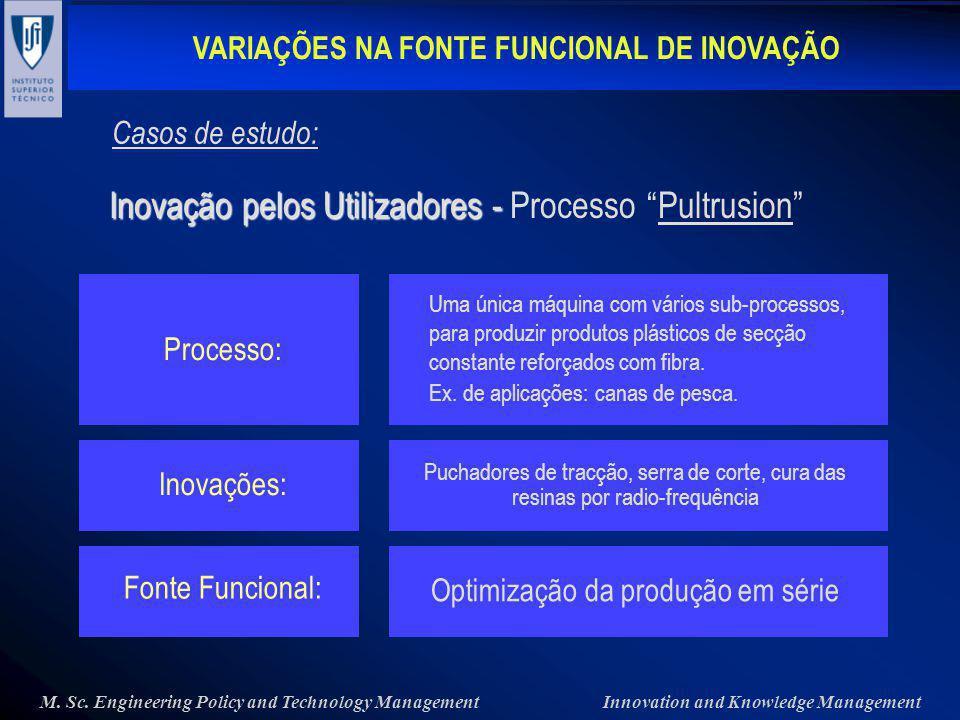 Inovação pelos Utilizadores - Processo Pultrusion