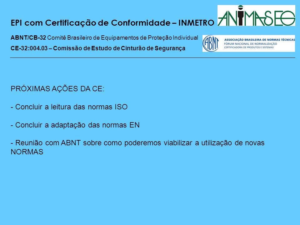 EPI com Certificação de Conformidade – INMETRO