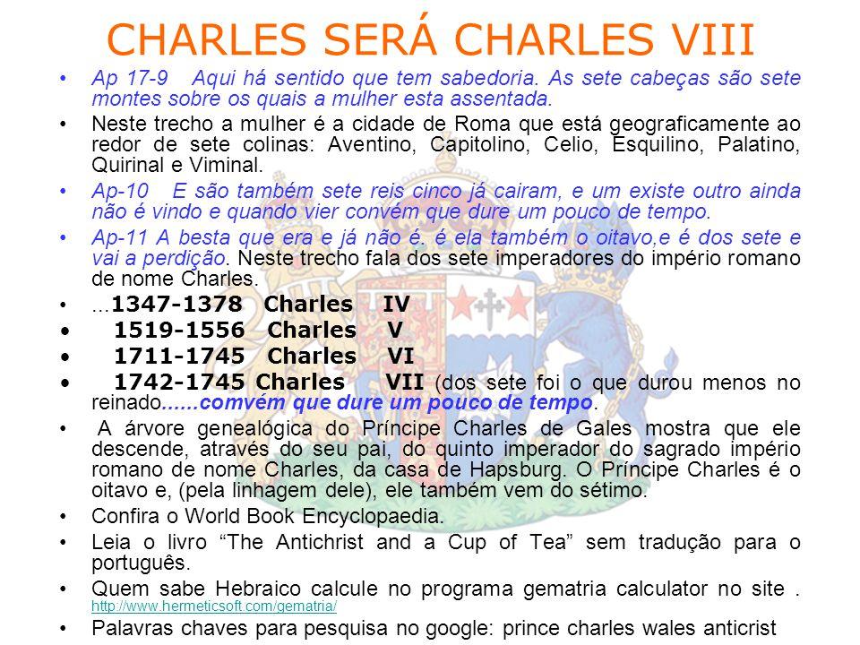 CHARLES SERÁ CHARLES VIII