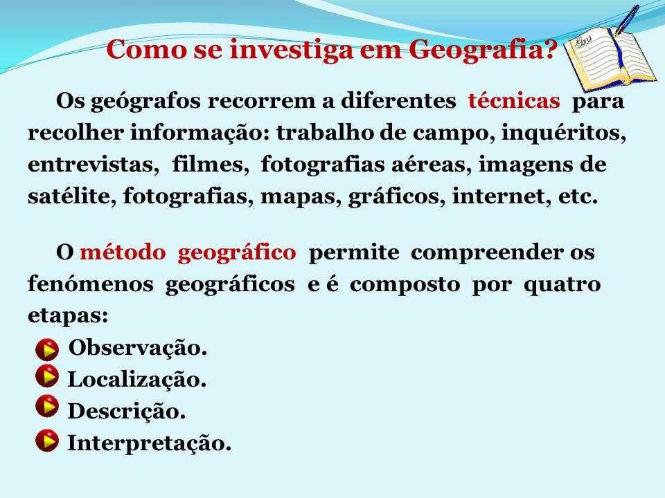 Como se investiga em Geografia