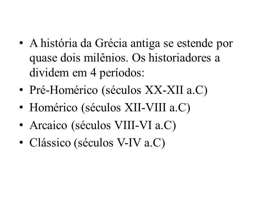 A história da Grécia antiga se estende por quase dois milênios