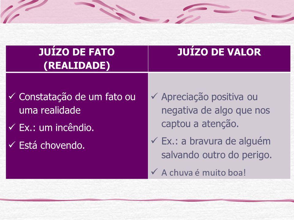 JUÍZO DE FATO (REALIDADE)