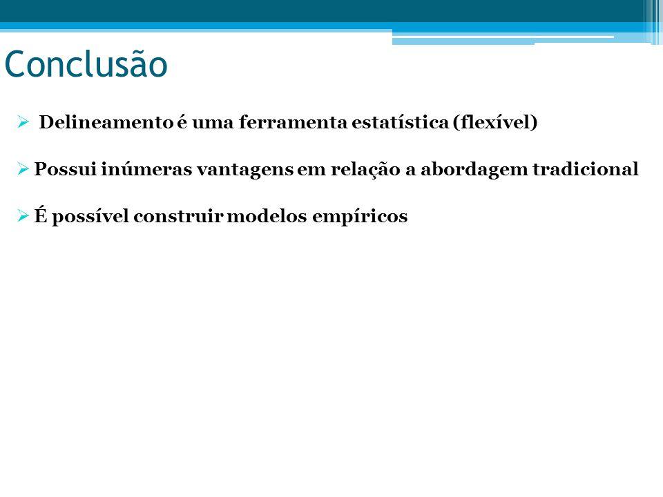 Conclusão Delineamento é uma ferramenta estatística (flexível)
