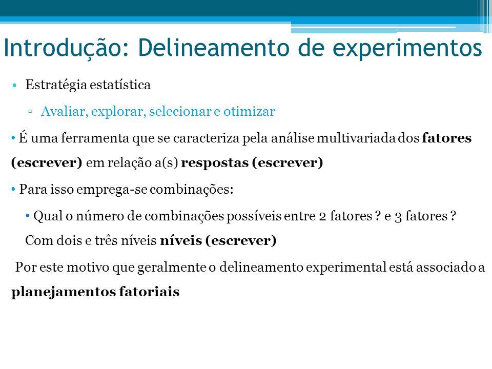 Introdução: Delineamento de experimentos