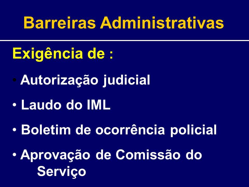 Barreiras Administrativas