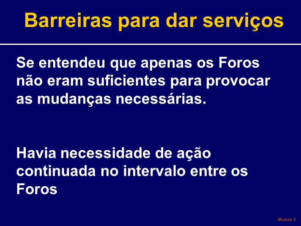 Barreiras para dar serviços