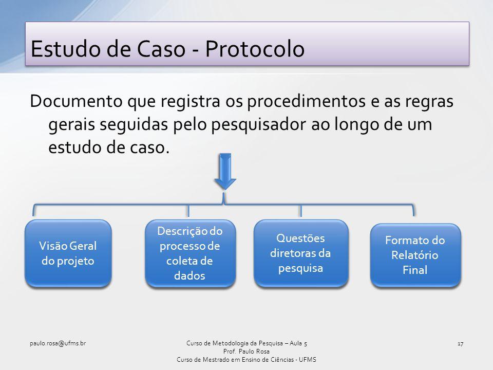 Estudo de Caso - Protocolo