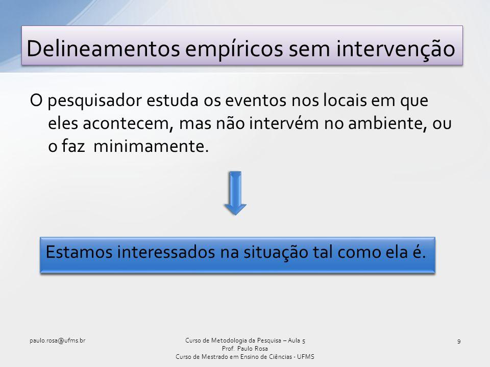 Delineamentos empíricos sem intervenção
