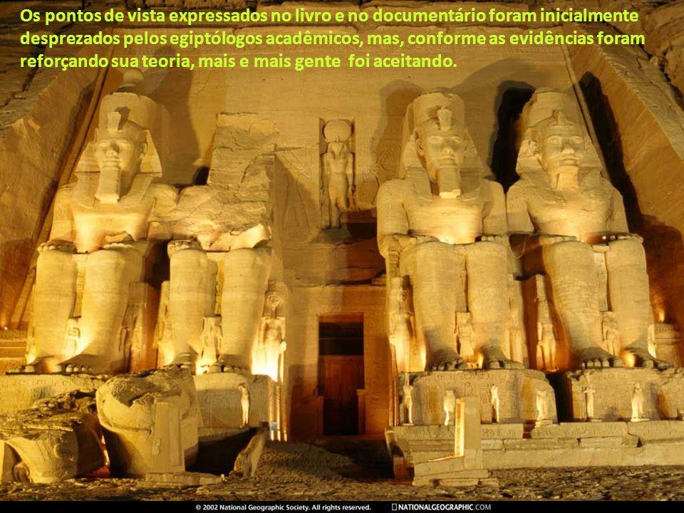 Os pontos de vista expressados no livro e no documentário foram inicialmente desprezados pelos egiptólogos acadêmicos, mas, conforme as evidências foram reforçando sua teoria, mais e mais gente foi aceitando.