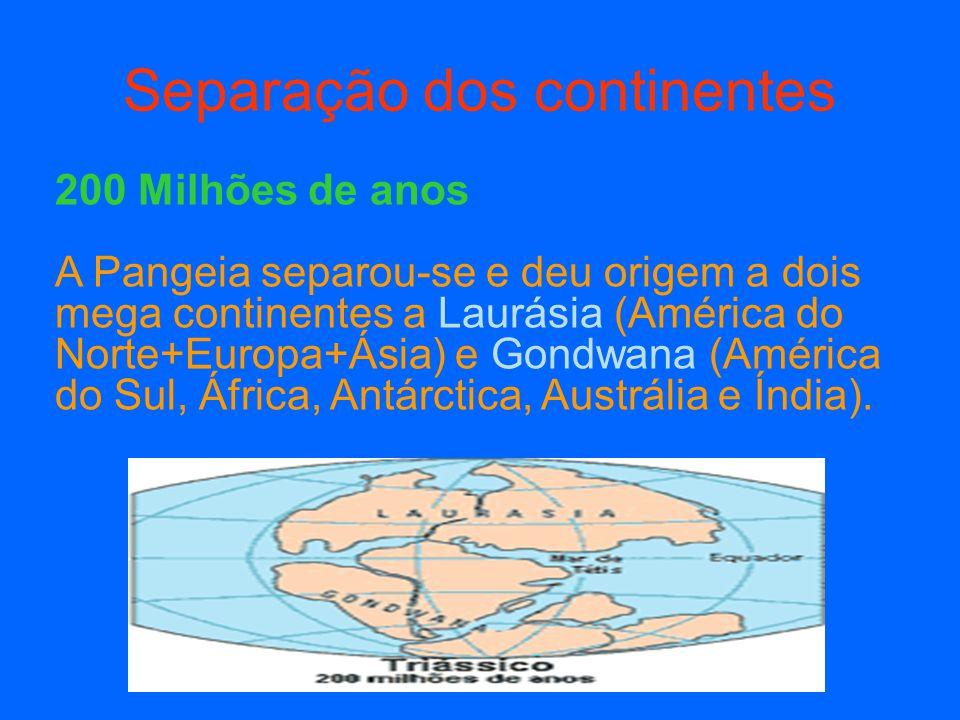 Separação dos continentes
