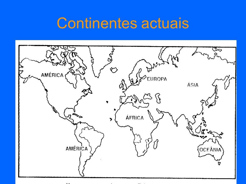 Continentes actuais
