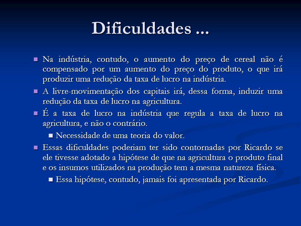 Dificuldades ...