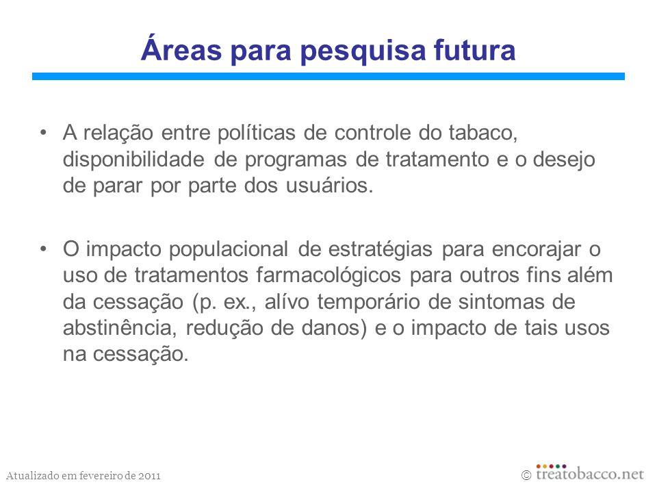 Áreas para pesquisa futura