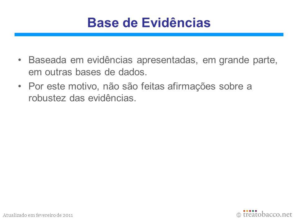 Base de Evidências Baseada em evidências apresentadas, em grande parte, em outras bases de dados.