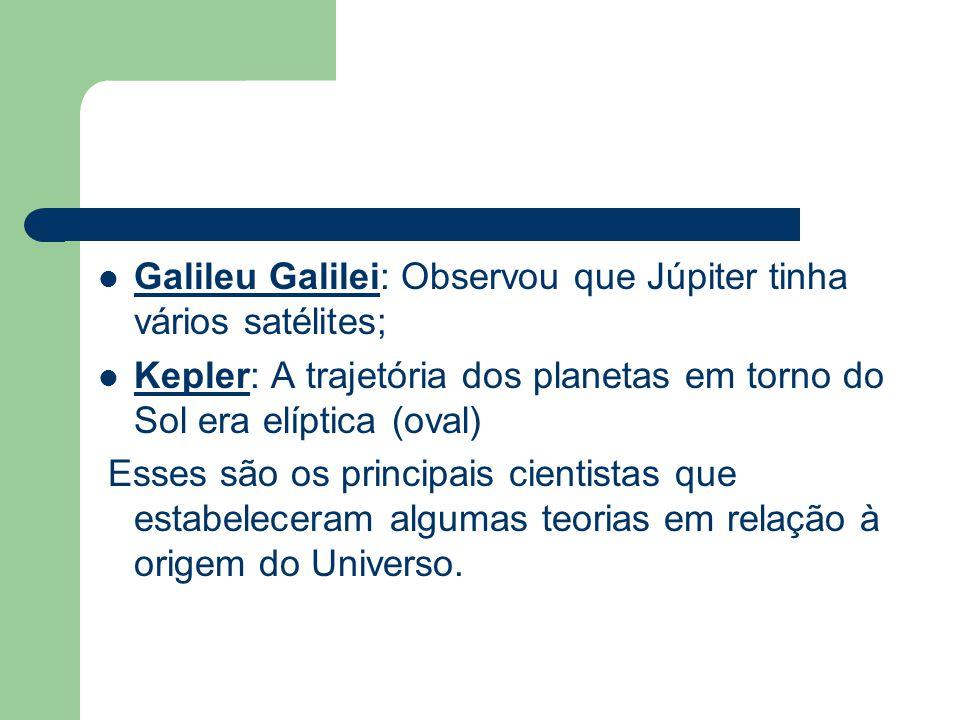 Galileu Galilei: Observou que Júpiter tinha vários satélites;