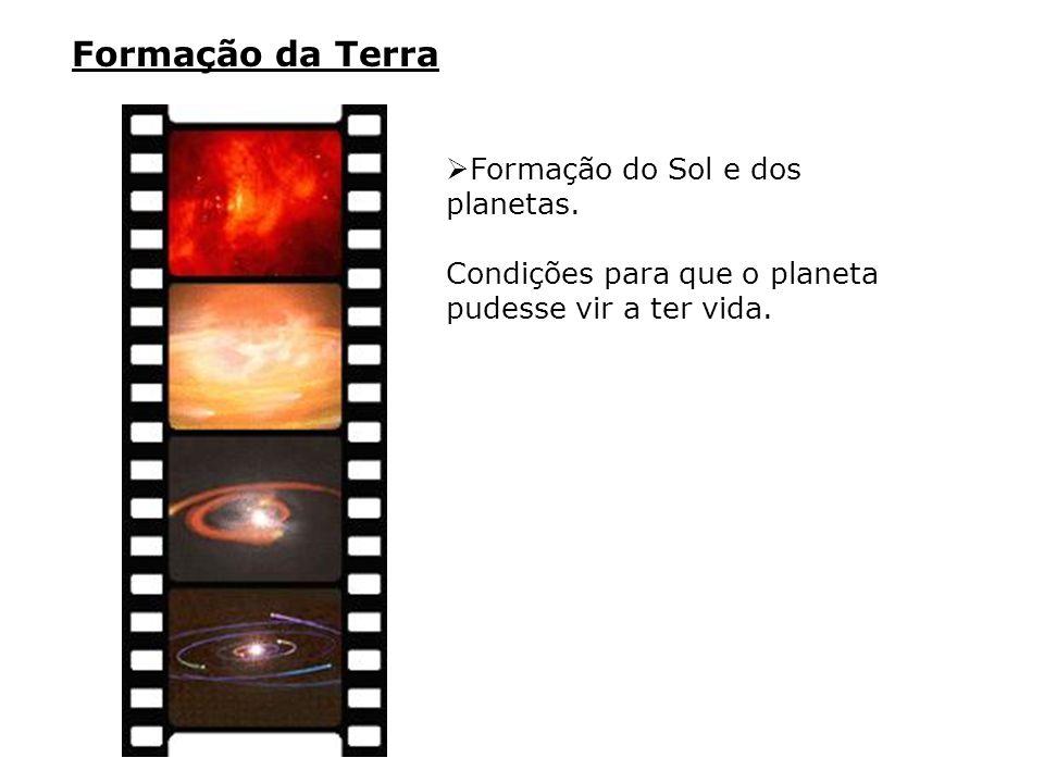 Formação da Terra Formação do Sol e dos planetas.