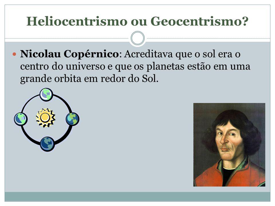 Heliocentrismo ou Geocentrismo