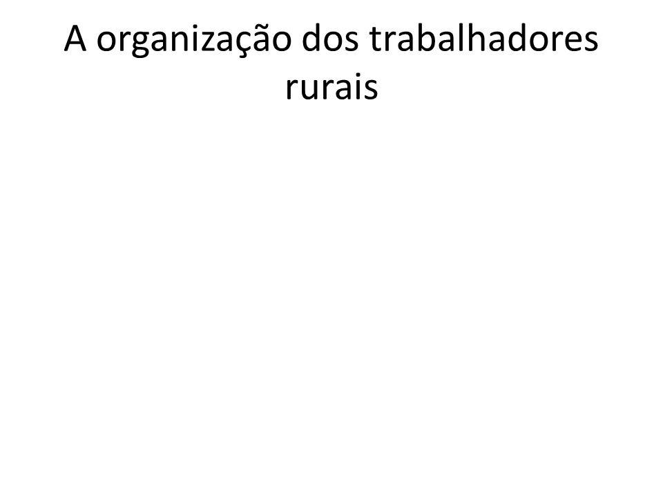 A organização dos trabalhadores rurais