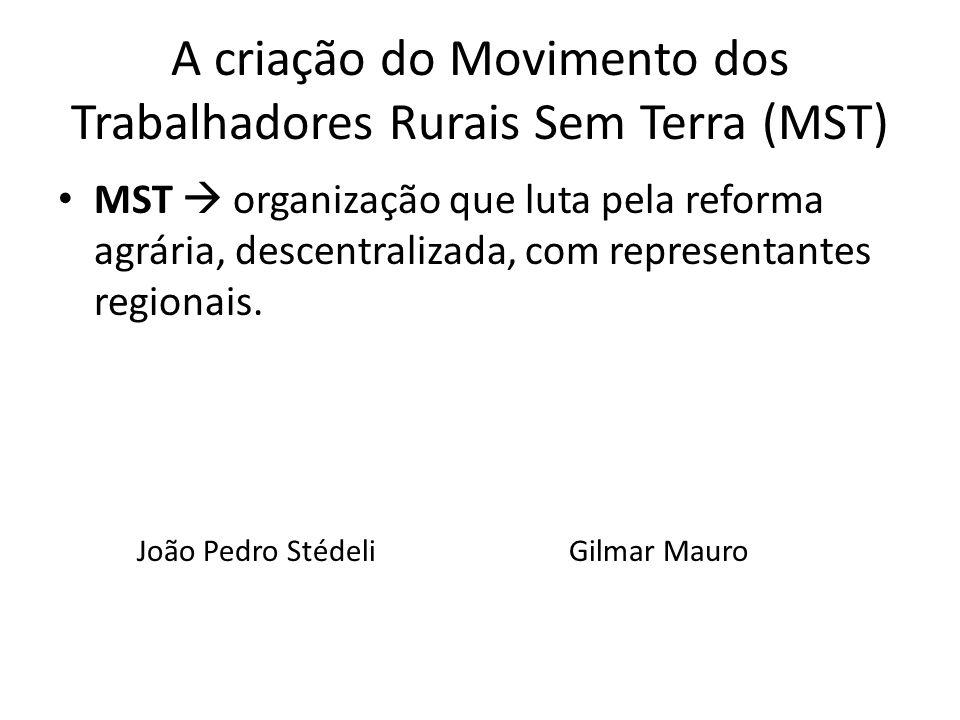A criação do Movimento dos Trabalhadores Rurais Sem Terra (MST)