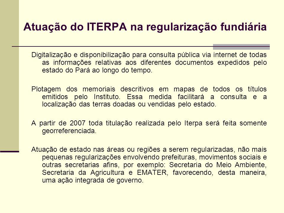 Atuação do ITERPA na regularização fundiária