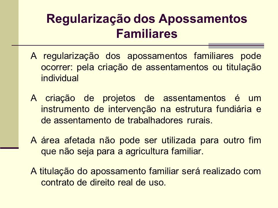 Regularização dos Apossamentos Familiares