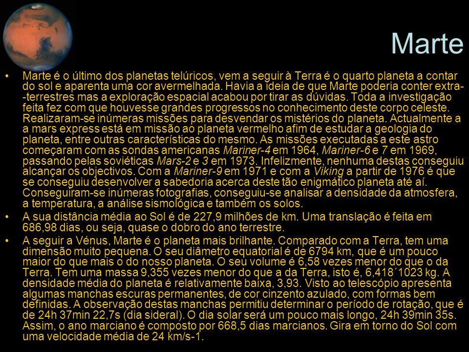Mercúrio Marte.