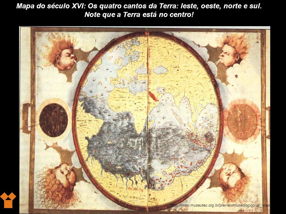 Note que a Terra está no centro!