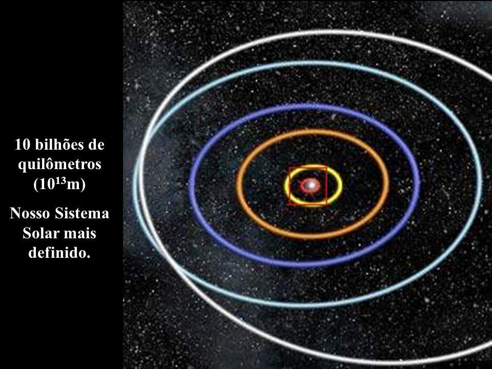 10 bilhões de quilômetros (1013m) Nosso Sistema Solar mais definido.