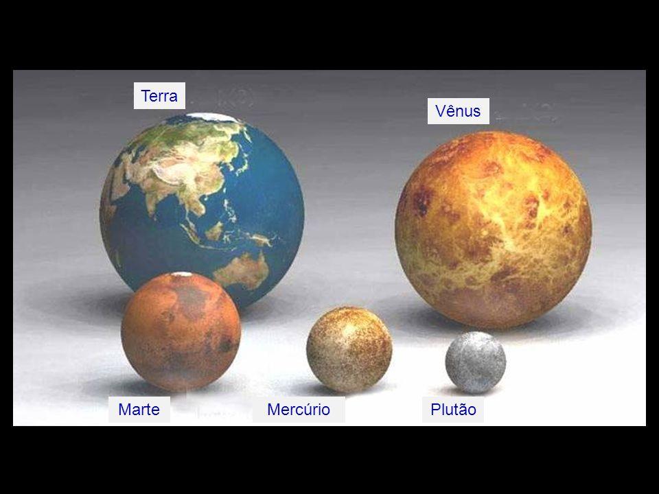 Terra Vênus Marte Mercúrio Plutão