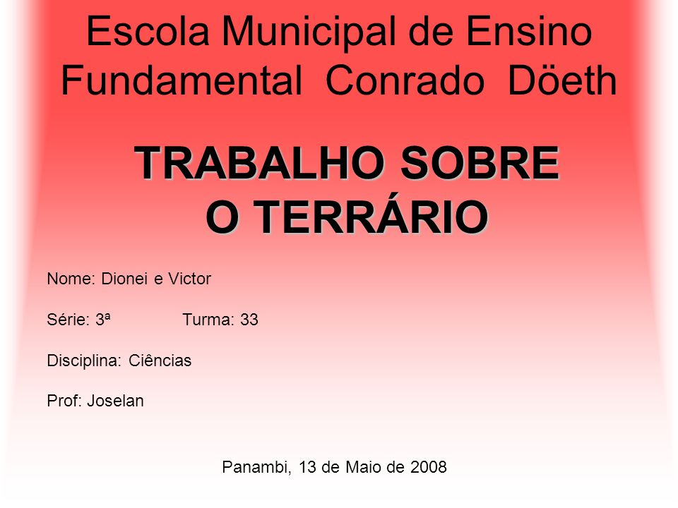 Escola Municipal de Ensino Fundamental Conrado Döeth