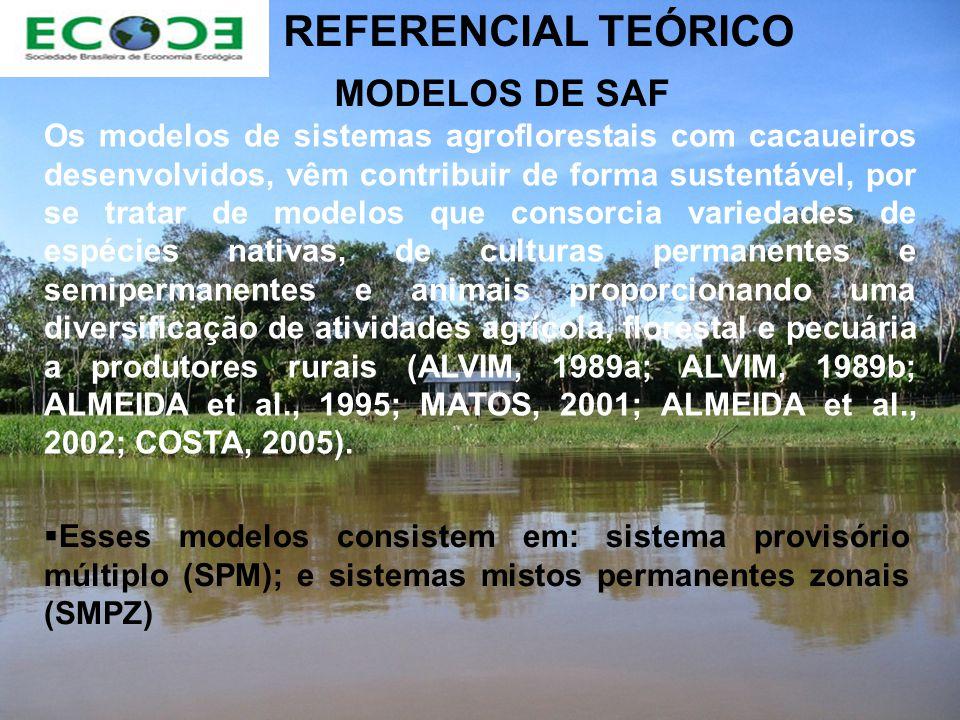 REFERENCIAL TEÓRICO MODELOS DE SAF