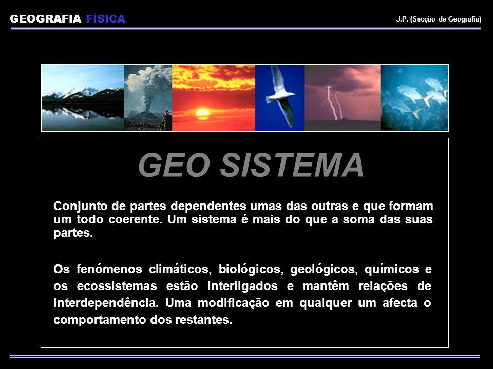 GEOGRAFIA FÍSICA J.P. (Secção de Geografia) GEO SISTEMA.