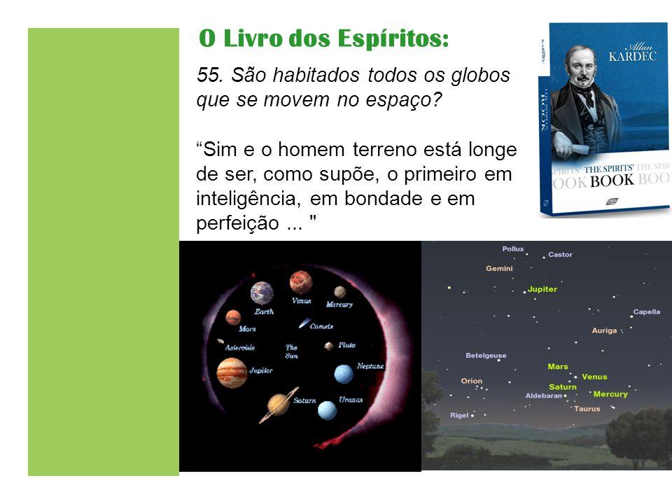 O Livro dos Espíritos: 55. São habitados todos os globos que se movem no espaço