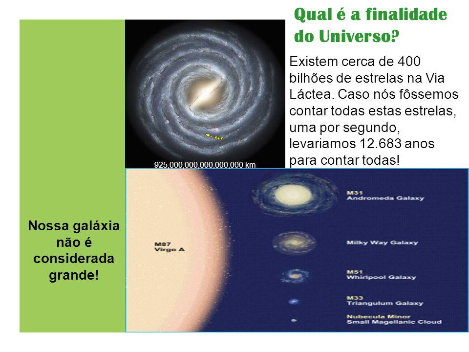Nossa galáxia não é considerada grande!