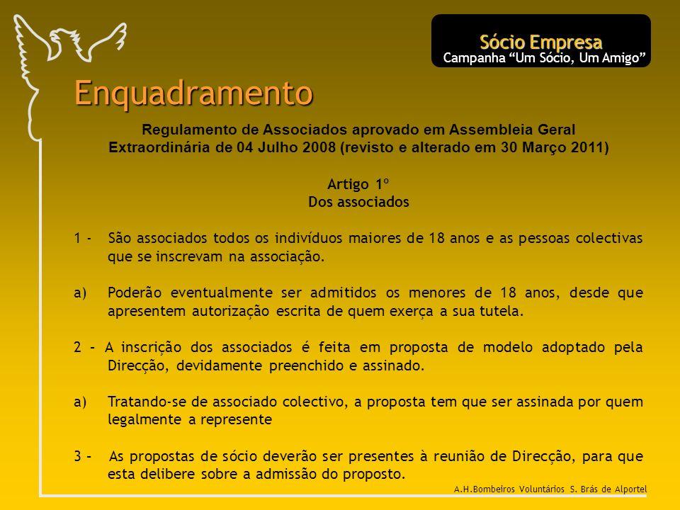 Regulamento de Associados aprovado em Assembleia Geral