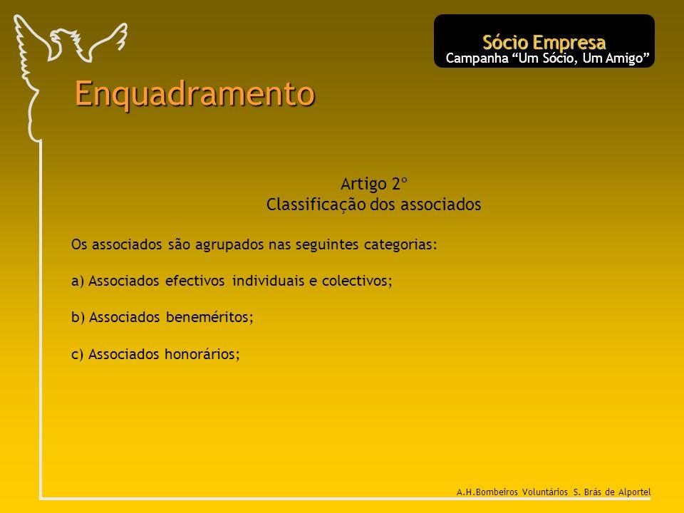 Enquadramento Sócio Empresa Artigo 2º Classificação dos associados