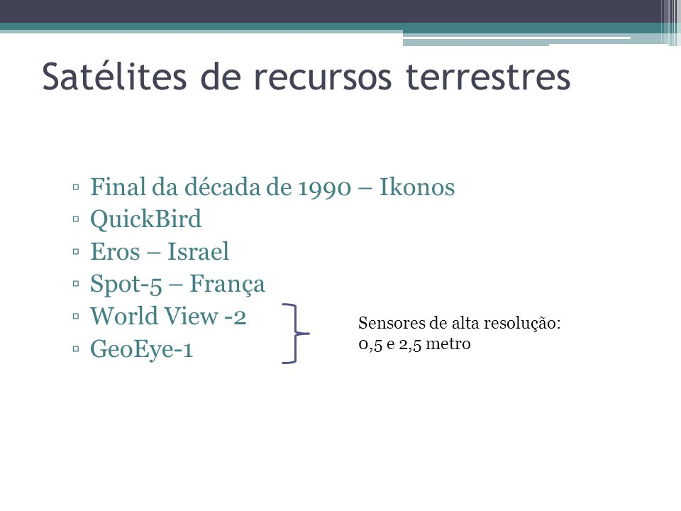 Satélites de recursos terrestres