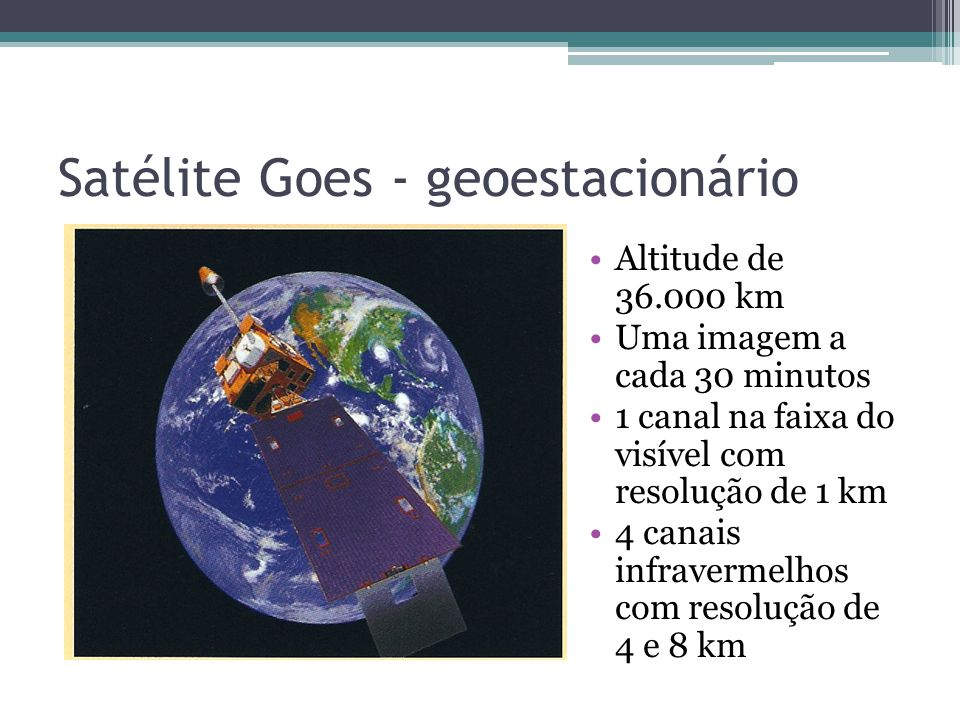 Satélite Goes - geoestacionário