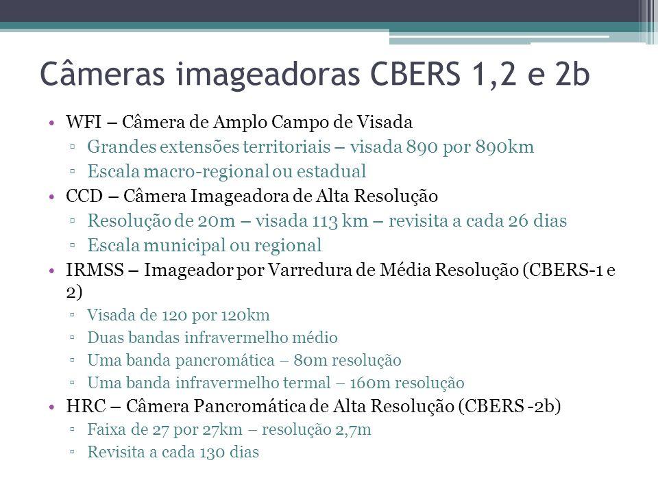 Câmeras imageadoras CBERS 1,2 e 2b