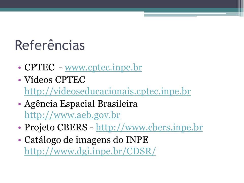 Referências CPTEC - www.cptec.inpe.br