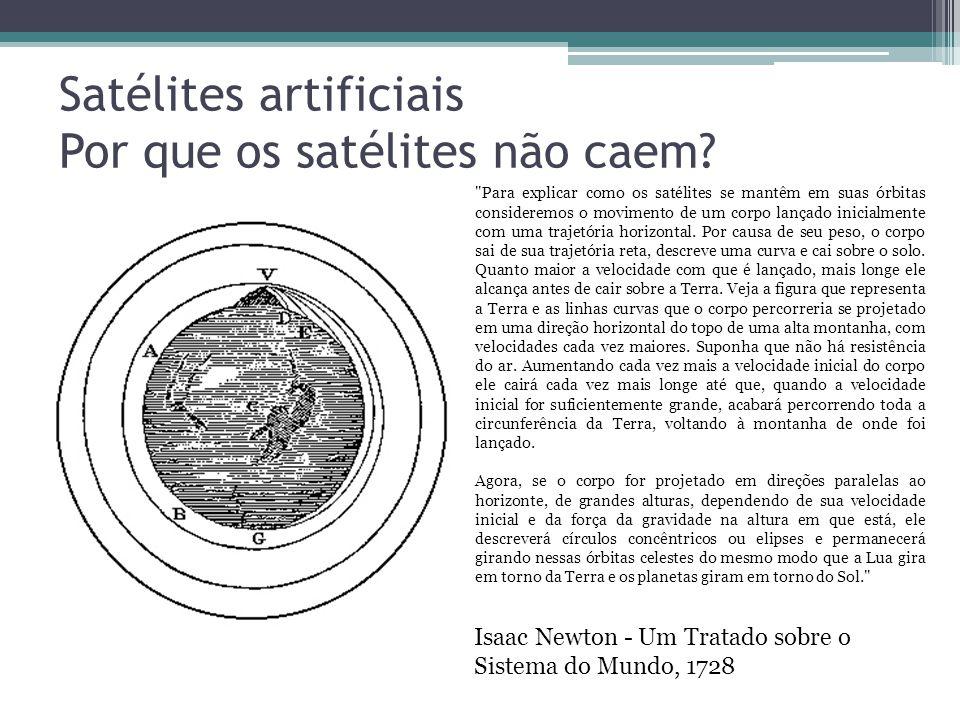 Satélites artificiais Por que os satélites não caem