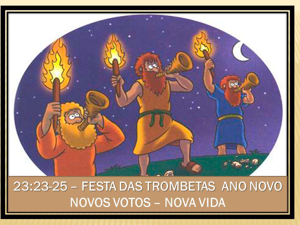 23:23-25 – FESTA DAS TROMBETAS ANO NOVO NOVOS VOTOS – NOVA VIDA