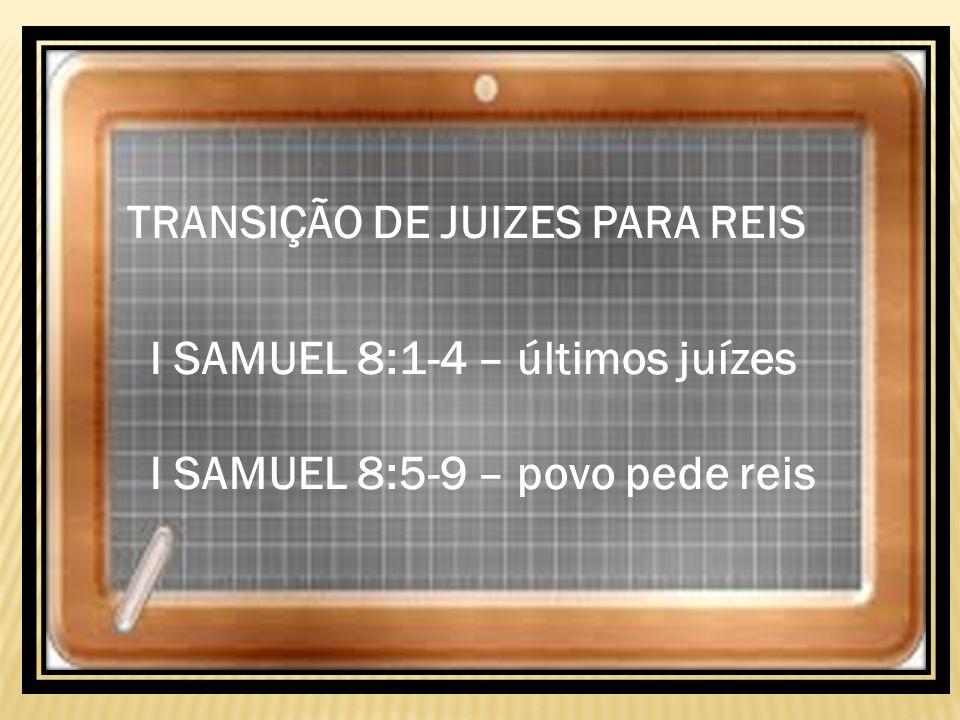 TRANSIÇÃO DE JUIZES PARA REIS