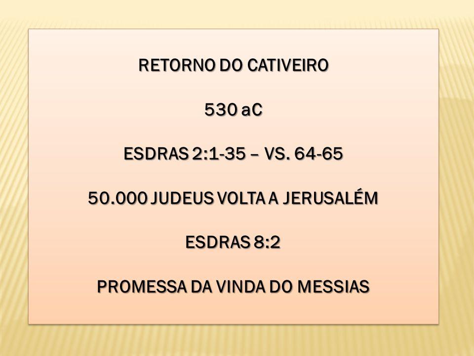 50.000 JUDEUS VOLTA A JERUSALÉM PROMESSA DA VINDA DO MESSIAS