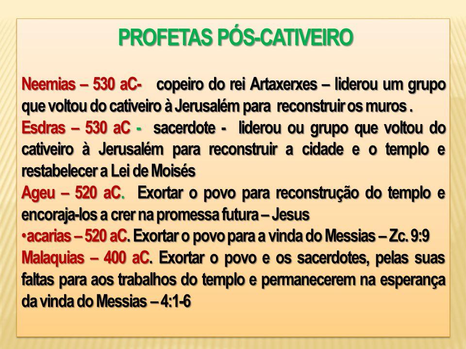 PROFETAS PÓS-CATIVEIRO