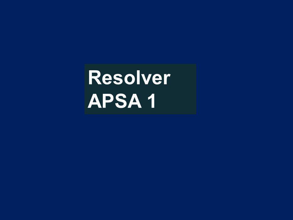 Resolver APSA 1