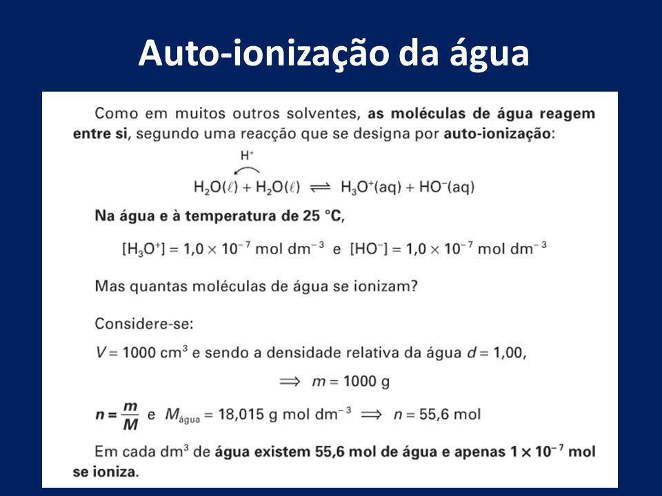 Auto-ionização da água